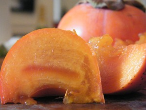 persimmon slices