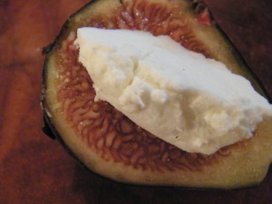 goat cheese fig